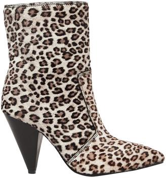 Stuart Weitzman Atomic West Leopard-print Calf Hair Ankle Boots