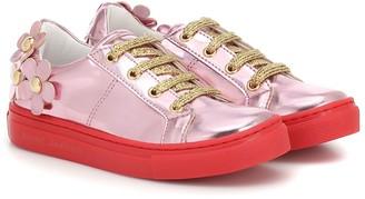 Little Marc Jacobs Metallic sneakers