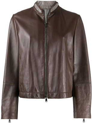 Brunello Cucinelli Zipped Biker Jacket