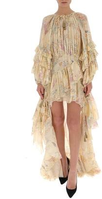 Etro Frill Trim Asymmetric Dress