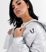 Puma Cropped Metallic Puffer Jacket