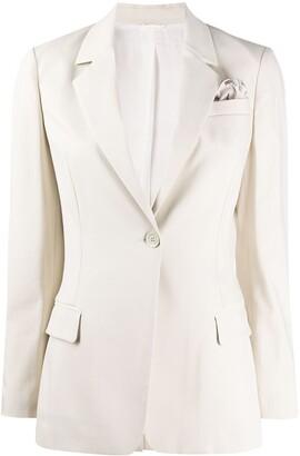 Brunello Cucinelli Silk Single-Breasted Fitted Blazer
