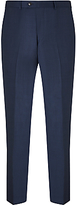 John Lewis Super 100s Wool Pindot Tailored Suit Trousers, French Blue