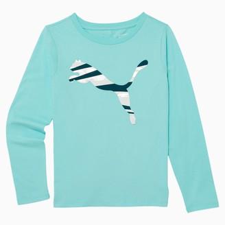 Puma No.1 Logo Girls' Long Sleeve Fashion Tee JR