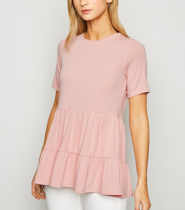 Thumbnail for your product : New Look Tiered Peplum Top
