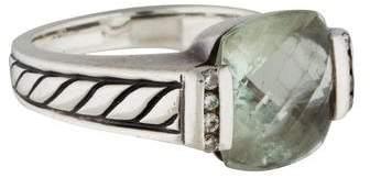 David Yurman Prasiolite and Diamond Deco Ring