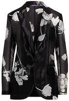 Ralph Lauren Collection Women's Pascale Floral Silk-Blend Jacket