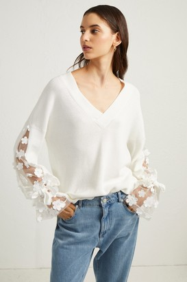 French Connenction Caballo Lace Knit Jumper