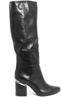 Vic Matié Semi-shiny Calfskin Knee-high Stove Pipe Boot