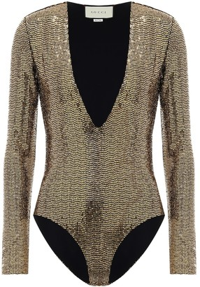 Gucci Sequined bodysuit