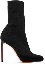 Francesco Russo Open-knit Boots - Black