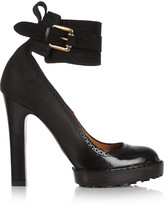 McQ by Alexander McQueen Brushed and patent-leather pumps