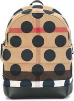 Burberry House Check polka dot backpack - kids - Cotton/Jute/Leather/Polyamide - One Size