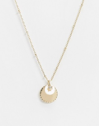 Saint Lola gold plated coin necklace