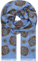 Eton Medallion Print Cotton-modal Scarf