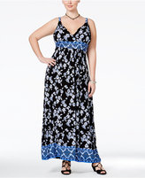 American Rag Trendy Plus Size Printed Maxi Dress, Only at Macy's