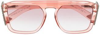 Fendi FF0381S aviator-frame sunglasses