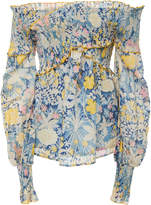 Alice McCall Love Shakin Off-The-Shoulder Floral Ruffle Top