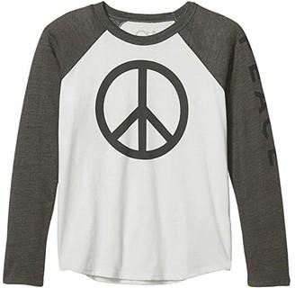Chaser Peace Cotton Jersey w/ Tri-Blend Raglan Baseball Tee (Little Kids/Big Kids) (Salt/Safari) Boy's Clothing