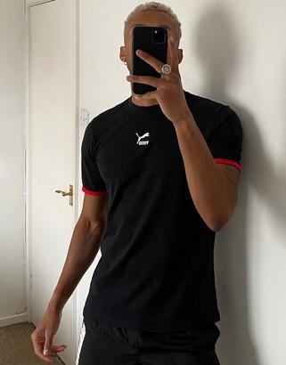 Puma TFS central logo t-shirt black