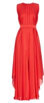 Maison Rabih Kayrouz Pleated silk-charmeuse gown
