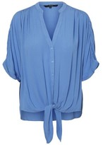 Dorothy Perkins Womens Vero Moda Blue Tie Front Blouse, Blue