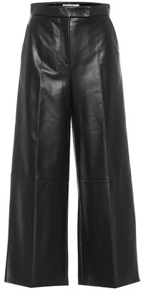 Max Mara Ravel high-rise wide-leg leather pants