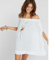 Express off the shoulder resort cover-up