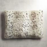 Pier 1 Imports Faux Fur Leopard Print Standard Pillow Sham