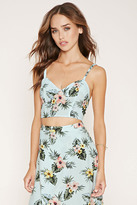 Forever 21 Tropical Floral Cropped Cami