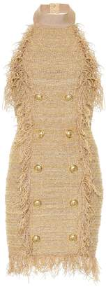 Balmain Silk-blend tweed minidress