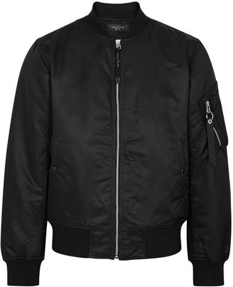 Rag & Bone Manston black nylon bomber jacket
