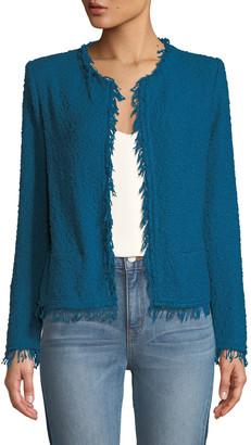 IRO Shavani Frayed Boucle-Knit Jacket