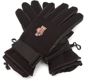 3 Moncler Grenoble - Logo-patch Shell And Leather Gloves - Black
