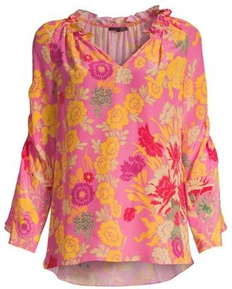 Kobi Halperin Jenna Floral Silk Blouse