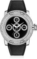 Glam Rock Women's GR10526D Miami Black Genuine leather Band Watch.