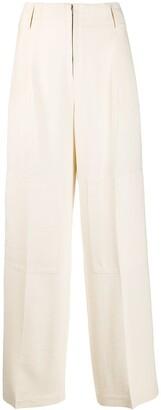 Jil Sander High Rise Wide-Leg Trousers