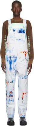S.R. STUDIO. LA. CA. White SOTO Hand-Dyed Overalls