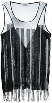 Aviu sequin embellished tank top - women - Cotton/Polyamide - 44