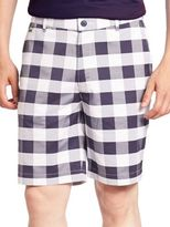 Lacoste Golf Stretch Gingham Plaid Shorts