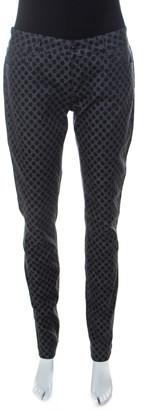 Dolce & Gabbana Grey Polka Dot Denim Skinny Jeans M