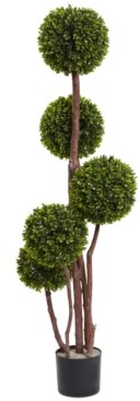 Nearly Natural 4' Boxwood Uv-Resistant Indoor/Outdoor Topiary Tree