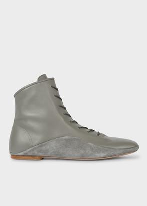 Women's Grey Leather 'Milton' Boots