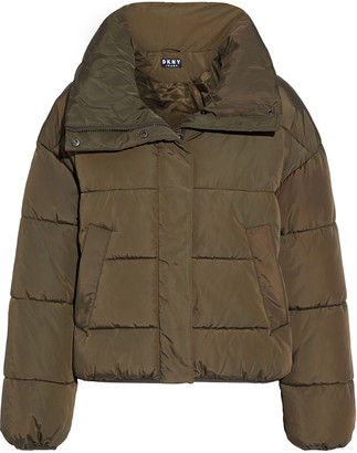 DKNY Appliqued Quilted Shell Jacket