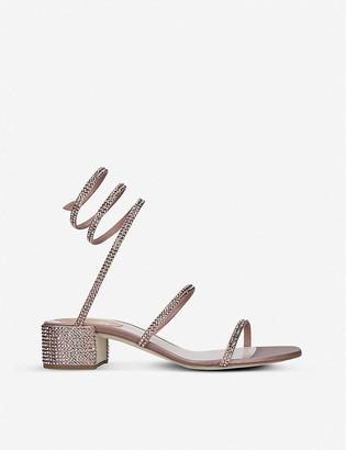 Rene Caovilla Celo rhinestone-embellished satin sandals
