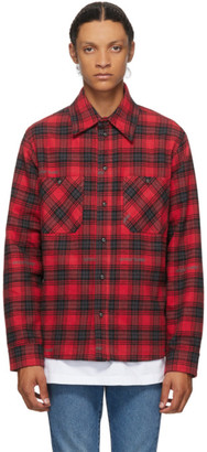 Off-White Red Flannel Stencil Shirt