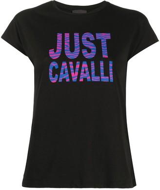 Just Cavalli zebra-print logo T-shirt