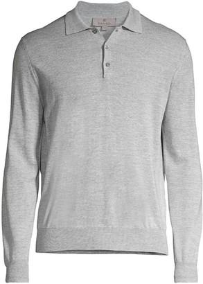 Canali Modern-Fit Wool Polo Shirt