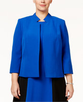 Kasper Plus Size Stand-Collar Jacket