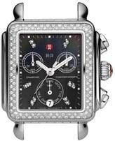Michele 'Deco Diamond' Diamond Dial Watch Case, 33mm x 35mm